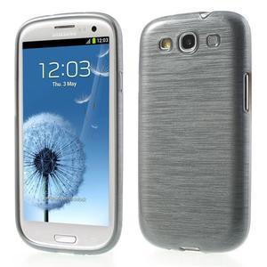 Brush gélový kryt na Samsung Galaxy S III / Galaxy S3 - šedý - 1