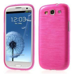 Brush gélový kryt na Samsung Galaxy S III / Galaxy S3 - rose - 1