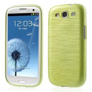 Brush gélový kryt pre Samsung Galaxy S III / Galaxy S3 - zelený - 1