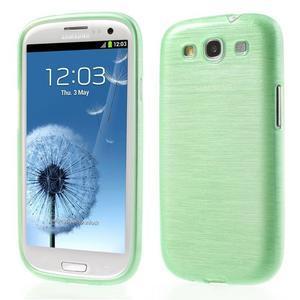 Brush gélový kryt na Samsung Galaxy S III / Galaxy S3 - zelený - 1