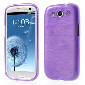 Brush gélový kryt na Samsung Galaxy S III / Galaxy S3 - fialový - 1