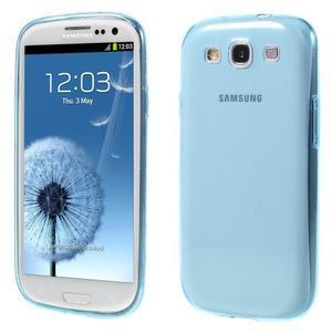 Ultratenký slim 0.6 mm obal na Samsung Galaxy S III / S3 - modrý - 1