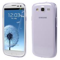 Ultratenký slim 0.6 mm obal na Samsung Galaxy S III / S3 - fialový - 1/4