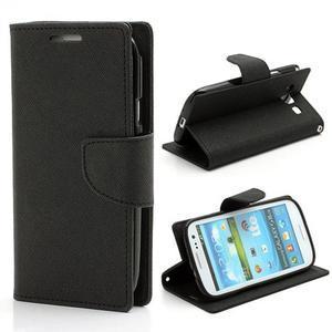 Mr. Fancy koženkové puzdro na Samsung Galaxy S3 - čierné - 1