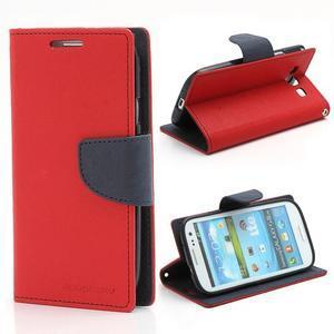 Mr. Fancy koženkové puzdro na Samsung Galaxy S3 - červené - 1