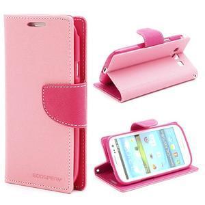Mr. Fancy koženkové puzdro na Samsung Galaxy S3 - růžové - 1
