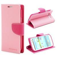 Mr. Fancy koženkové puzdro na Samsung Galaxy S3 - růžové - 1/7