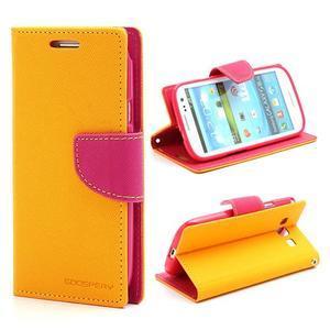 Mr. Fancy koženkové puzdro na Samsung Galaxy S3 - žlté - 1