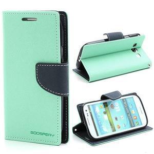 Mr. Fancy koženkové puzdro pre Samsung Galaxy S3 - azúrové - 1