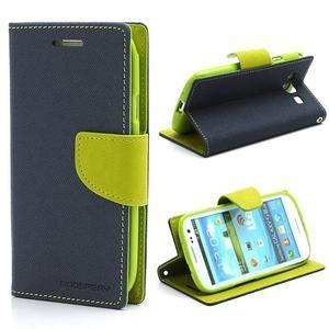 Mr. Fancy koženkové puzdro pre Samsung Galaxy S3 - tmavo modré - 1