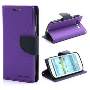 Mr. Fancy koženkové puzdro na Samsung Galaxy S3 - fialové - 1