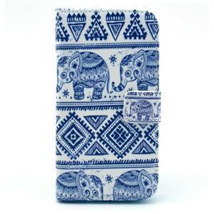 Peňaženkové puzdro pre mobil Samsung Galaxy S III - slony - 1