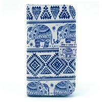 Peňaženkové puzdro pre mobil Samsung Galaxy S III - slony - 1/6