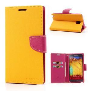 Goosp PU kožené puzdro na Samsung Galaxy Note 3 - žlté - 1