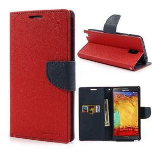 Goosp PU kožené puzdro pre Samsung Galaxy Note 3 - červené - 1