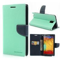 Goosp PU kožené puzdro pre Samsung Galaxy Note 3 - azúrové - 1/7