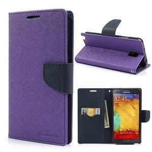 Goosp PU kožené puzdro pre Samsung Galaxy Note 3 - fialové - 1