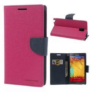 Goosp PU kožené puzdro pre Samsung Galaxy Note 3 - rose - 1