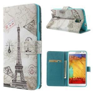 Peňaženkové puzdro na mobil Samsung Galaxy Note 3 - Eiffelova veža - 1