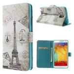 Peňaženkové puzdro na mobil Samsung Galaxy Note 3 - Eiffelova veža - 1/7
