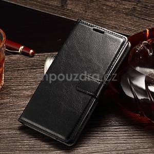Koženkové puzdro Sony Xperia M4 Aqua - čierne - 1