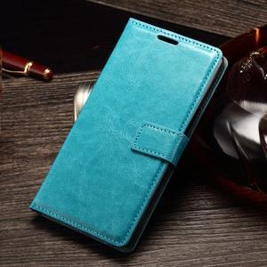 Koženkové puzdro Sony Xperia M4 Aqua - modré - 1