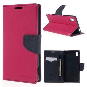 Ochranné puzdro pre Sony Xperia M4 Aqua - rose/tmavomodré - 1