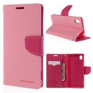 Ochranné puzdro pre Sony Xperia M4 Aqua - ružové/rose - 1