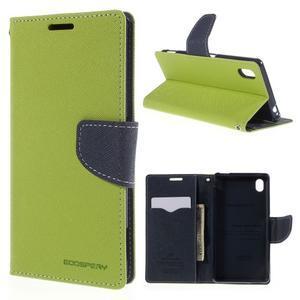 Ochranné puzdro pre Sony Xperia M4 Aqua - zelené/tmavomodré - 1