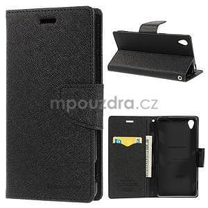 Peňaženkové puzdro pre mobil Sony Xperia Z3 - čierne - 1