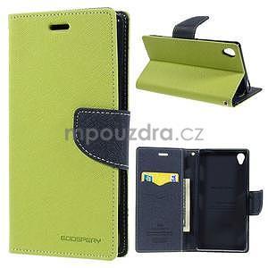 Peňaženkové puzdro pre mobil Sony Xperia Z3 - zelené - 1