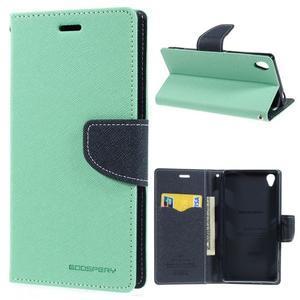 Peňaženkové puzdro pre mobil Sony Xperia Z3 - azurové - 1