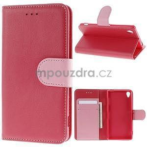Koženkové pouzdro na Sony Xperia Z3 - červené - 1
