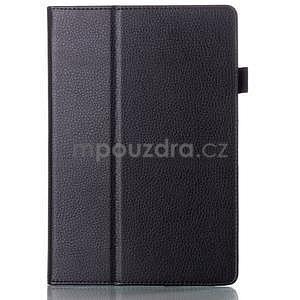 Koženkové puzdro pre tablet Lenovo A10-70 - čierne - 1