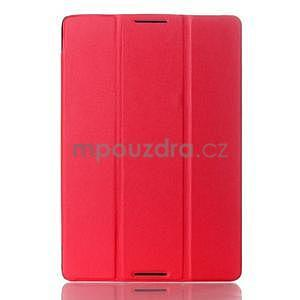 Troj-polohové puzdro pre tablet Lenovo IdeaTab A10-70 - červené - 1
