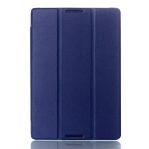 Troj-polohové puzdro na tablet Lenovo IdeaTab A10-70 - tmavomodré - 1
