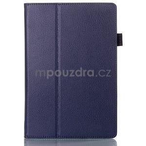 Koženkové puzdro na tablet Lenovo A10-70 - tmavomodré - 1