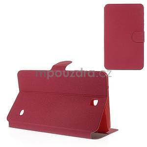 PU kožené puzdro pre tablet peňaženkové Samsung Galaxy Tab 8.0 4 -  magenta - 1