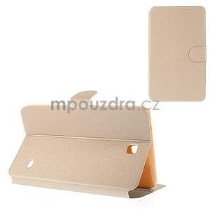 PU kožené puzdro pre tablet peňaženkové Samsung Galaxy Tab 8.0 4 - champagne - 1