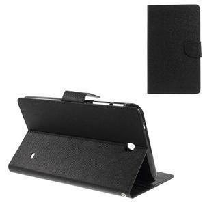 Čierne peňaženkové puzdro Goospery na tablet Samsung Galaxy Tab 8.0 4 - 1