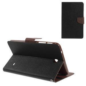 Čierne/hnedé peňaženkové puzdro Goospery na tablet Samsung Galaxy Tab 8.0 4 - 1