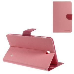 Ružové peňaženkové puzdro Goospery na tablet Samsung Galaxy Tab 8.0 4 - 1
