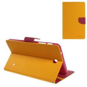 Žlté peňaženkové puzdro Goospery na tablet Samsung Galaxy Tab 8.0 4 - 1