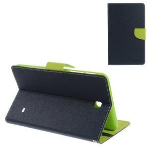 Modré peňaženkové puzdro Goospery pre tablet Samsung Galaxy Tab 8.0 4 - 1
