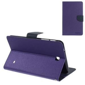 Fialové peňaženkové puzdro Goospery na tablet Samsung Galaxy Tab 8.0 4 - 1