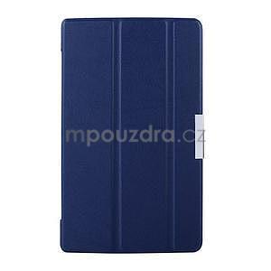 Tmavomodré puzdro na tablet Lenovo S8-50 s funkciou stojančeku - 1