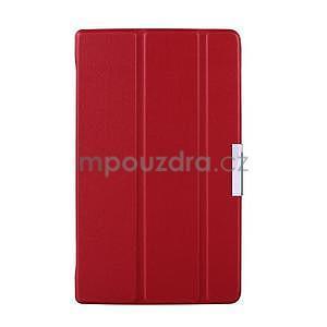 Červené puzdro na tablet Lenovo S8-50 s funkciou stojančeku - 1