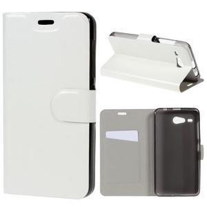 Horse peňaženkové puzdro pre Acer Liquid Z520 - biele - 1