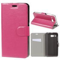 Horse peňaženkové puzdro pre Acer Liquid Z520 - rose - 1/7