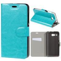 Horse peněženkové pouzdro na Acer Liquid Z520 - modré - 1/7